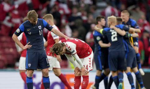 Финландия победи Дания в мача, който уплаши целия свят