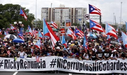 Протести свалиха губернатора на Пуерто Рико