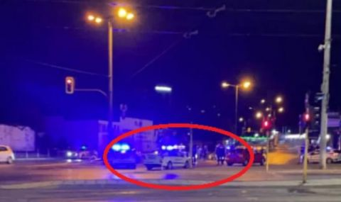 Гонка с джип в София завърши с катастрофа - 1