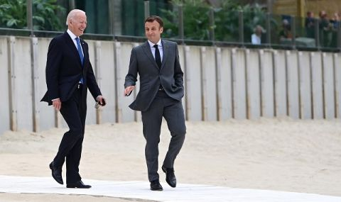 Опит за помирение! Макрон ще говори с Байдън за дипломатическата криза между Франция и САЩ - 1