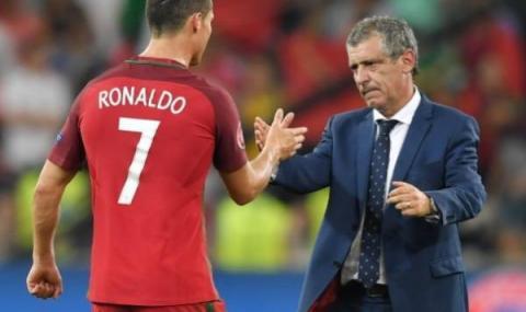 Селекционерът на Португалия: Вирусът не е атакувал Роналдо тук