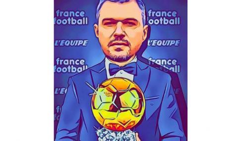 """Валери Божинов се похвали с карикатура - позира със """"Златната топка"""""""
