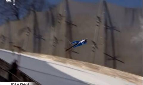 Ужасен инцидент: Олимпийски шампион  падна брутално със скорост над 100 км/ч (ВИДЕО)