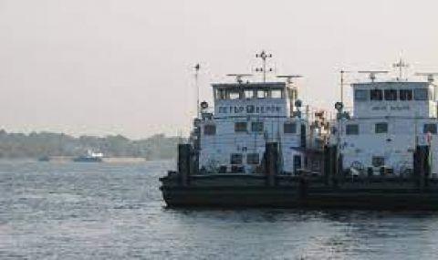 Изпитваме нов кораб за драгиране в река Дунав