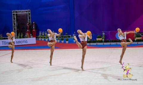 Ансамбълът ни по художествена гимнастика с фантастично представяне