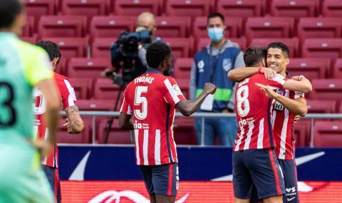 Атлетико Мадрид с разгром, Суарес с два гола