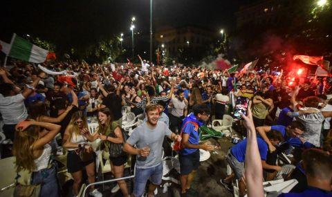 UEFA EURO 2020 Изключително грозни сцени след финала: Англичани биха италиански фенове (ВИДЕО)