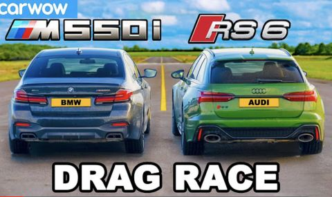 Ще може ли BMW M550i да се справи с Audi RS6? (ВИДЕО) - 1