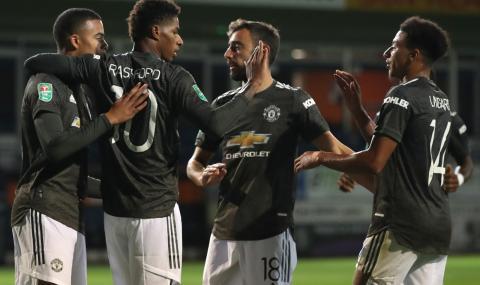 Ман Юнайтед не остави шансове на Лутън Таун за Купата на лигата