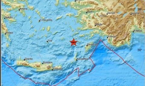 Земетресение с магнитуд 5,3 край бреговете на Гърция - 1