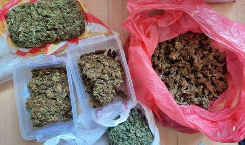 Близо килограм марихуана иззе полицията от квартал в София  - 1