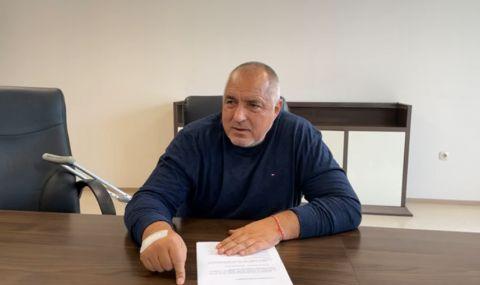 Бойко Борисов реди кабинета на ГЕРБ от болницата (ВИДЕО)