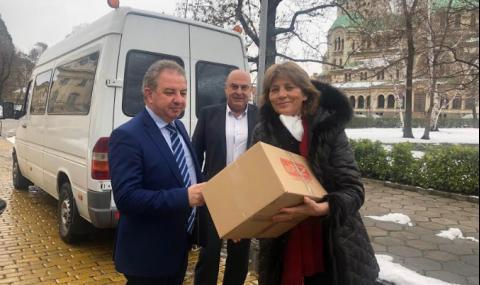 От Инфекциозна болница приеха с благодарност дарението на депутатите от НФСБ