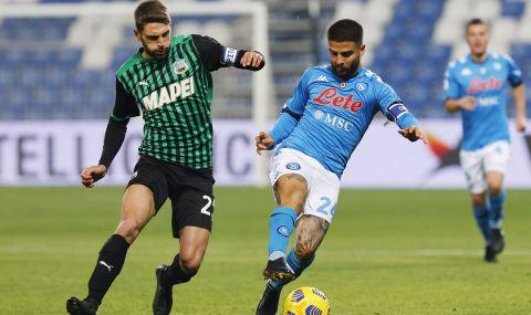 Наполи и Сасуоло със зрелищно реми в Серия