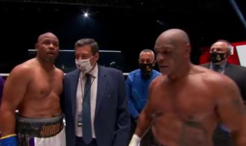 Легендите на бокса Майк Тайсън и Рой Джоунс-младши не излъчиха победител (ВИДЕО)