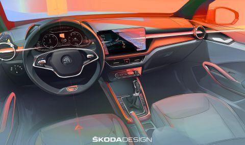 Ето как ще изглежда новата Skoda Fabia отвътре
