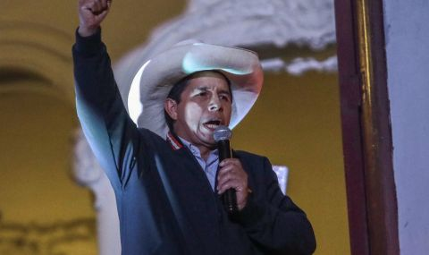 Педро Кастильо печели изборите в Перу