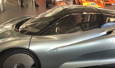 Българинът, направил най-бързия McLaren, го подкара (ВИДЕО)