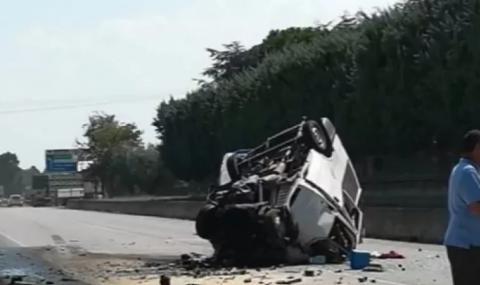 Жестока катастрофа на Околовръстното в София, има загинал