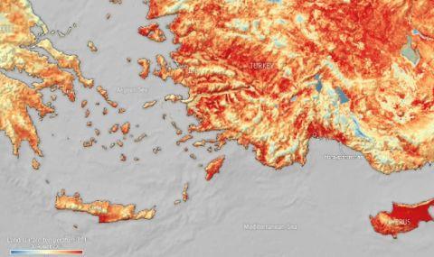Адска жега! Над 50 градуса температура на земната повърхност в Турция и Кипър - 1