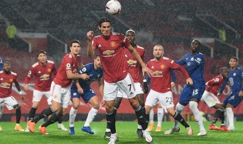 Положения, много дъжд и никакви голове на Манчестър Юнайтед-Челси