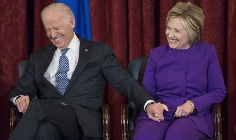 И Хилъри Клинтън застана зад Джо Байдън