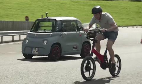 Може ли електрически Citroen да победи велосипед и тротинетка? (ВИДЕО) - 1