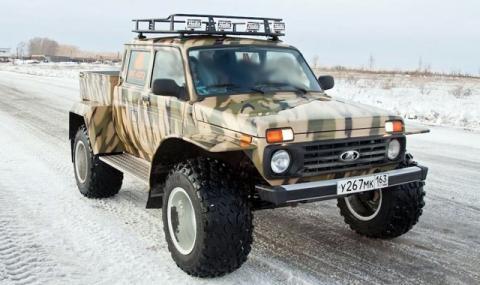 Нова заводска модификация на Lada Niva - пикап с огромни колела