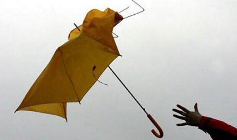 Жълт код за силен вятър в 9 области