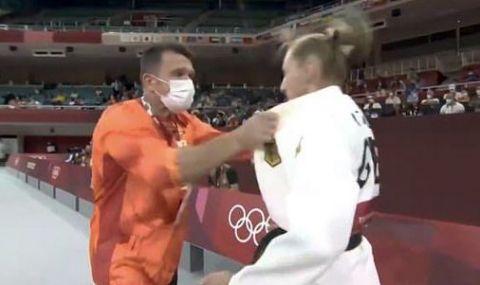 Германската джудистка, която яде шамари от треньора си в Токио, проговори след големия скандал - 1