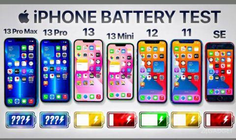 Батерията на кой iPhone издържа най-много? (ВИДЕО) - 1
