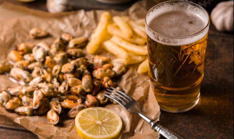 Рецепта за вечеря: Пържени миди с бира - 1