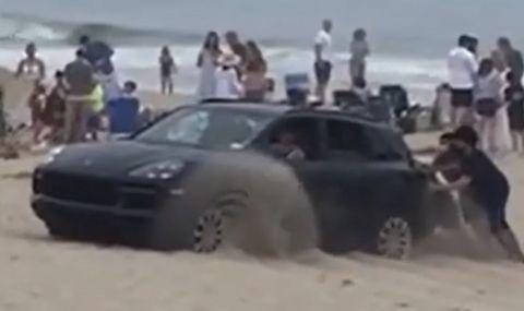 Ето защо пясък и Porsche Cayenne не е най-добрата комбинация (ВИДЕО) - 1