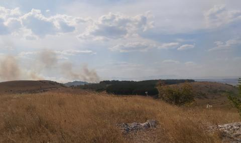 Продължава борбата с горския пожар край Хасково
