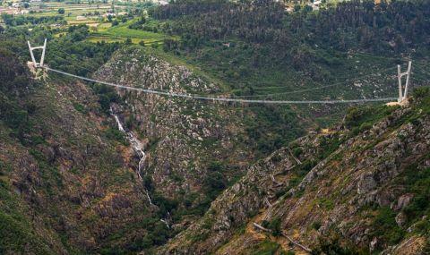 Откриха най-дългия висящ мост в света (ВИДЕО)