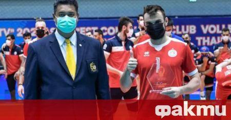 Българският волейболист Борислав Георгиев влезе в Идеалния отбор на Азиатското