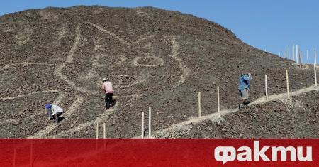 Нов геоглиф на огромна котка беше открит от археолози върху