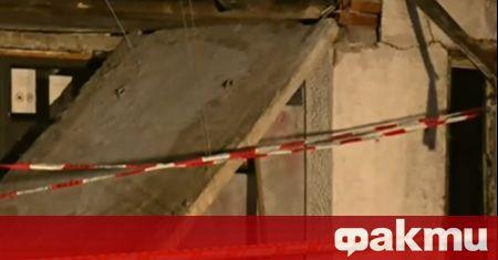 Мъж пострада при срутване на козирка на жилищен вход в