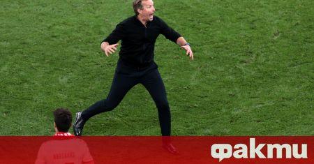 Селекционерът на Дания Каспер Хюлманд беше във възторг след победата