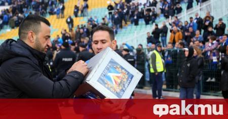 Левски отдаде чест на своя капитан Живко Миланов, който спря