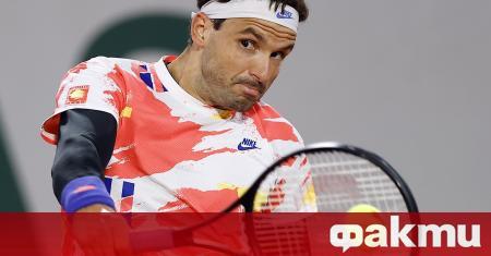 Най-добрият български тенисист Григор Димитров остана доволен след трудната победа