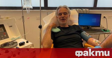 Световноизвестният тенор Андреа Бочели обяви, че ще дари кръвна плазма,