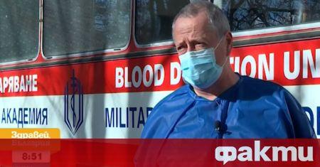 Единственият мобилен пункт за кръводаряване в България се намира на