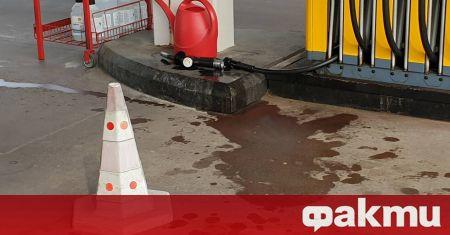 Пиян водач скъса маркуч на бензиноколонка. Инцидентът стана тази сутрин