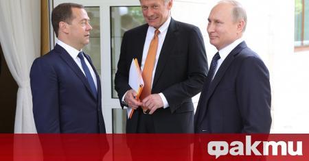Говорителят на Кремъл Дмитрий Песков заяви в четвъртък, че заплахата