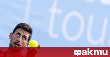 Лидерът в световната тенис ранглиста - Новак Джокович, публикува в