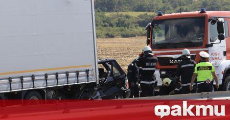 "Тежка катастрофа е станала на км 91 на магистрала ""Тракия"""