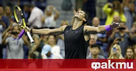 Испанският тенисист Рафаел Надал участва на турнир по голф в
