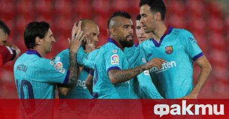 Шампионът Барселона спечели категорично с 4:0 при визитата си на