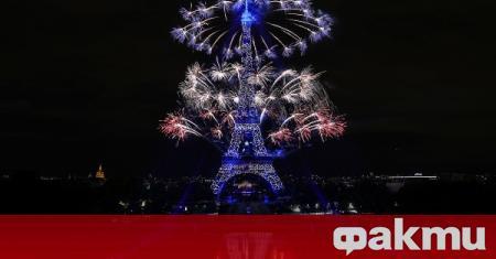 Националният празник на Франция завърши със зрелищно светлинно шоу, съобщи